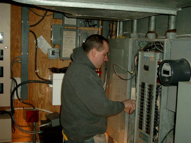 One of our Massachusetts electricians.